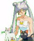 Artemis and Luna with Queen Serenity